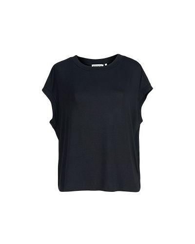 Черная футболка из вискозы Essentiel