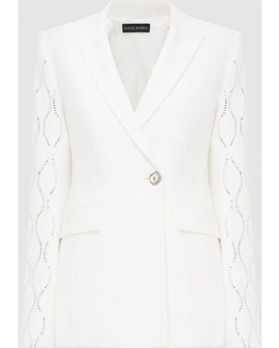 Белый пиджак David Koma