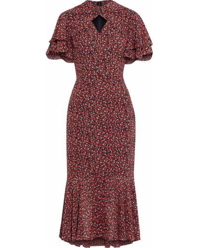 Платье миди с подкладкой с оборками на крючках Mikael Aghal
