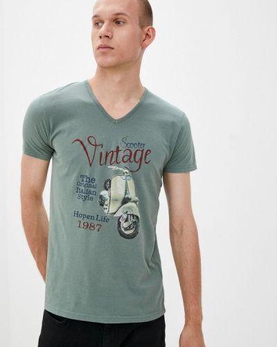Зеленая зимняя футболка Hopenlife