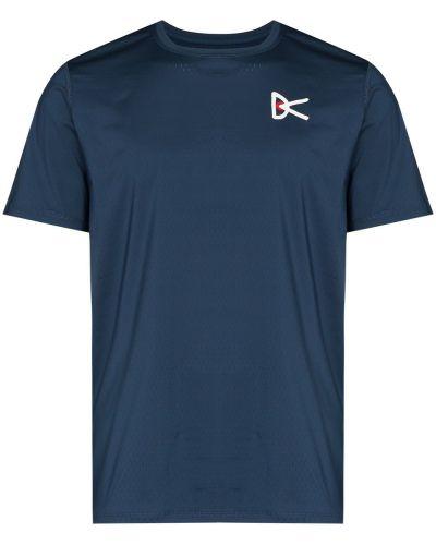 Niebieska koszulka z haftem District Vision