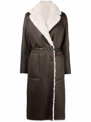Biały długi płaszcz skórzany Urbancode