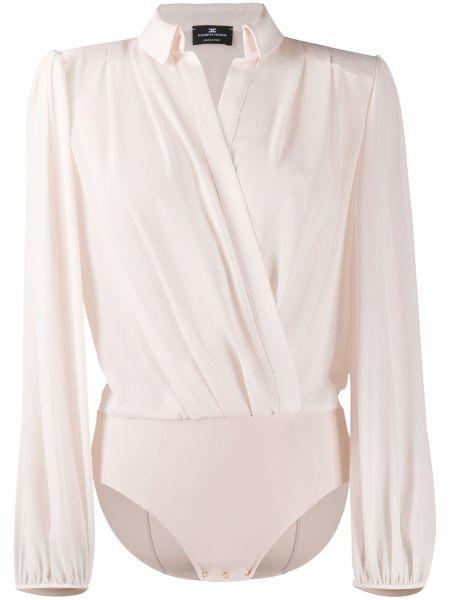 Классическая с рукавами классическая рубашка с воротником с запахом Elisabetta Franchi
