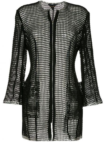 Ажурная черная нейлоновая куртка на молнии Comme Des Garçons Pre-owned