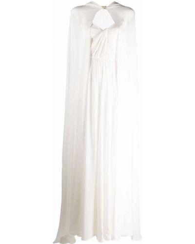 Шелковое платье - белое Elie Saab