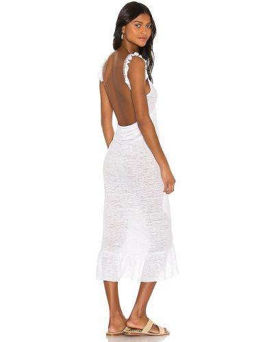 Ватное хлопковое белое платье Pitusa