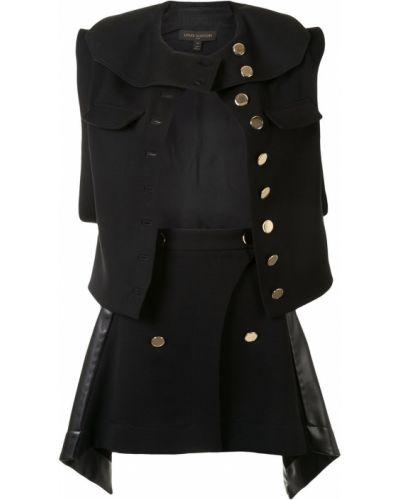 Złoty czarny garnitur asymetryczny Louis Vuitton