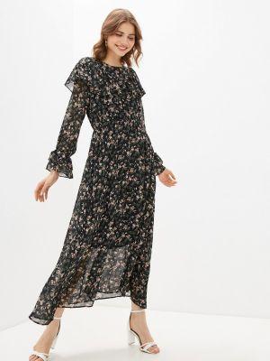 Прямое черное платье А-силуэта Bruebeck