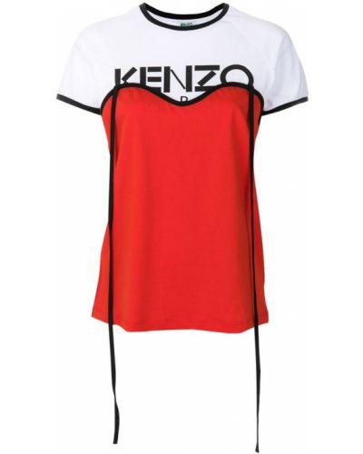 Оранжевая футболка прямая Kenzo