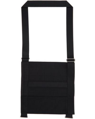 Белая текстильная сумка мессенджер квадратная с заплатками 132 5. Issey Miyake