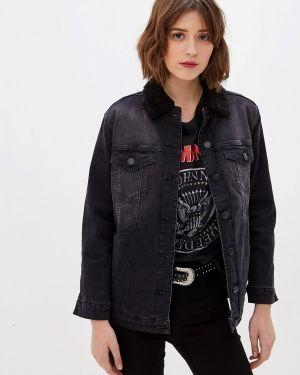 Утепленная куртка демисезонная черная Whitney