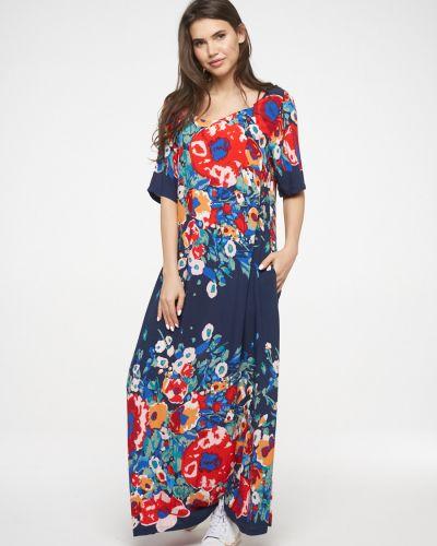 С рукавами свободное летнее платье с открытой спиной свободного кроя Vay