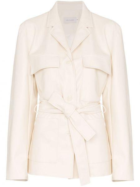 Белая куртка с манжетами на пуговицах Low Classic