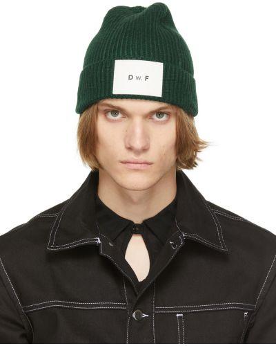 Biała czapka skórzana Daniel W. Fletcher