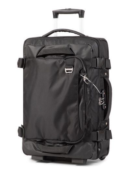 Czarna walizka materiałowa American Tourister