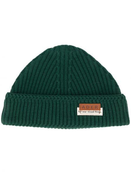 Wełniany zielony czapka Ader Error