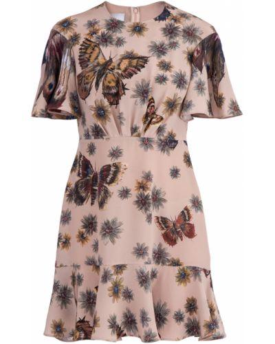 Платье с оборками с воротником Valentino