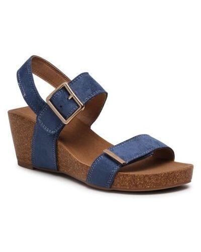 Niebieskie sandały na rzepy Ccc