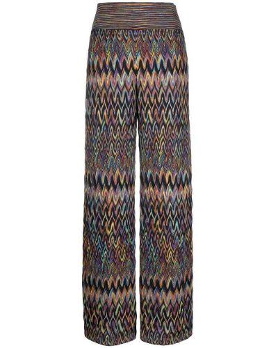 Brązowe spodnie Missoni