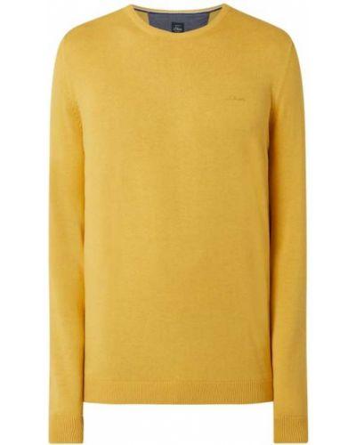 Sweter bawełniany - żółty S.oliver Red Label