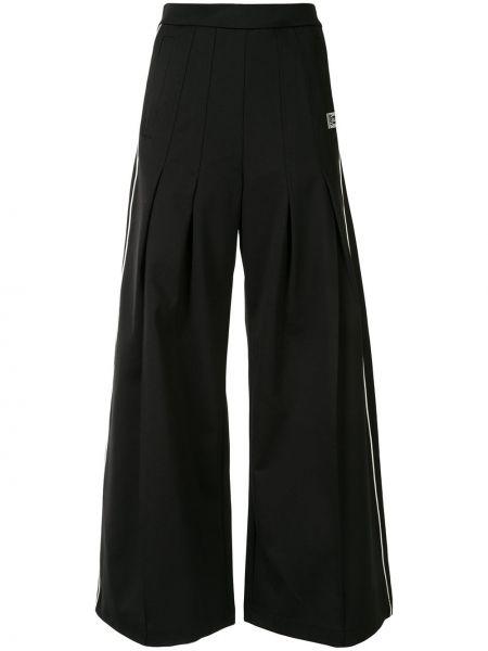 Черные нейлоновые свободные брюки свободного кроя с высокой посадкой Maison Mihara Yasuhiro