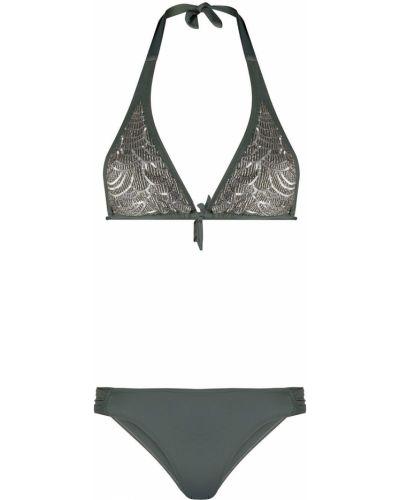 С заниженной талией пляжные серые бикини с завязками Tara Matthews