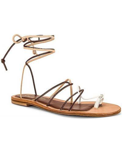 Brązowe sandały skorzane sznurowane Cornetti