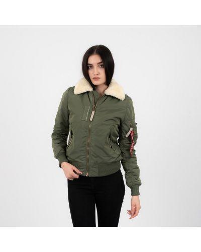 Нейлоновая зеленая куртка Alpha Industries