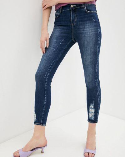 Синие джинсы-скинни узкого кроя Colcci