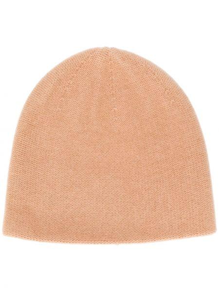 Коричневая шапка бини эластичная N.peal