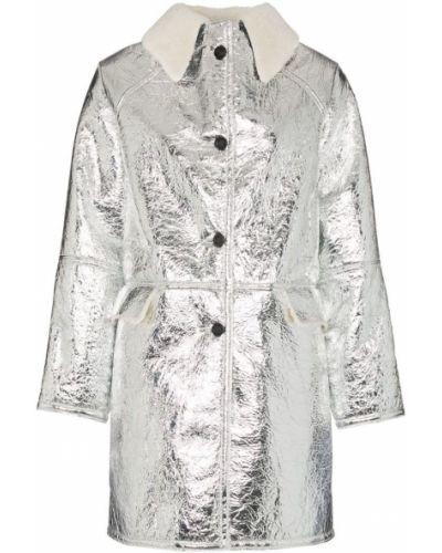 Серебряное пальто с капюшоном Kassl