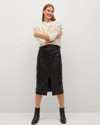 Czarna spódnica ołówkowa Mango