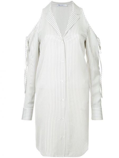 Рубашка с длинным рукавом белая в полоску T By Alexander Wang