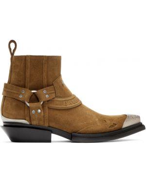 Кожаные ботинки с высоким голенищем треккинговые Balenciaga