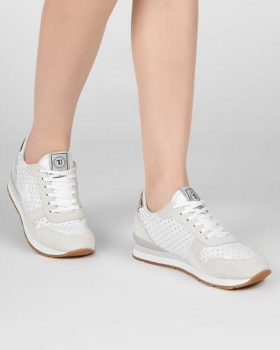 Кроссовки замшевые белый Trussardi Jeans