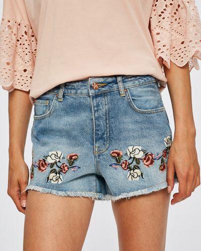 Шорты с завышенной талией джинсовые с вышивкой Silvian Heach