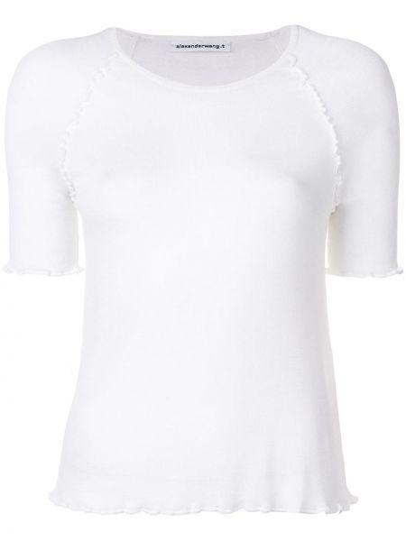 Klasyczna koszula biała krótkie rękawy Alexander Wang