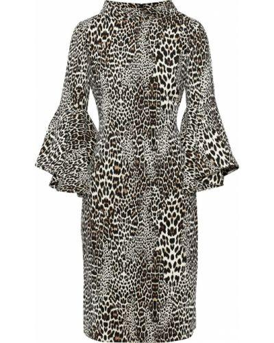 Платье на крючках из крепа с манжетами Badgley Mischka