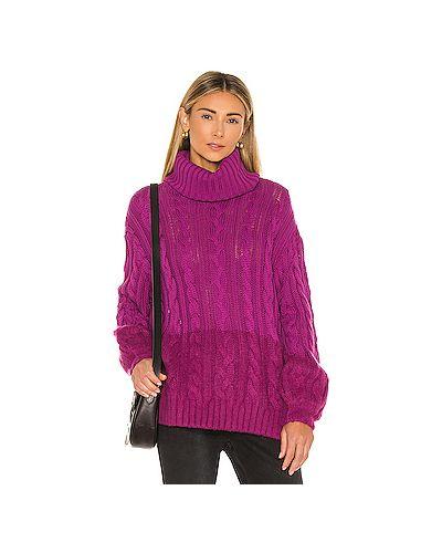 Акриловый розовый вязаный свитер One Teaspoon