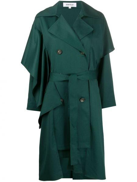 Płaszcz wełniany z paskiem Enfold