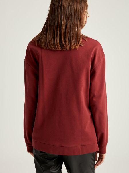 Красный свитер на молнии круглый Defacto