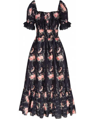 Платье мини миди с декольте Loveshackfancy