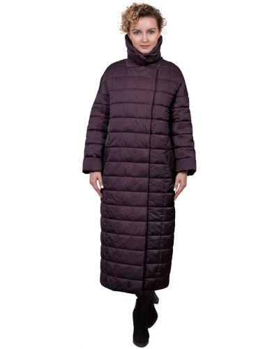Длинное пальто с капюшоном оверсайз с воротником J-splash
