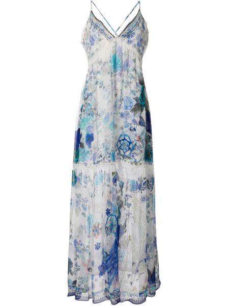 Платье на бретелях с цветочным принтом Camilla