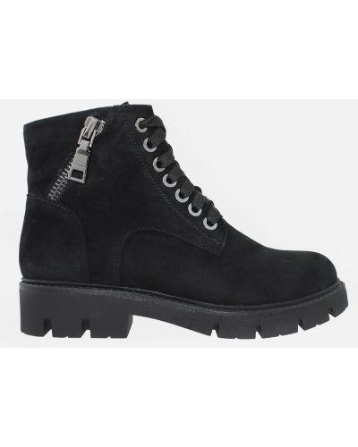 Ботинки на шнуровке - черные Carvallio