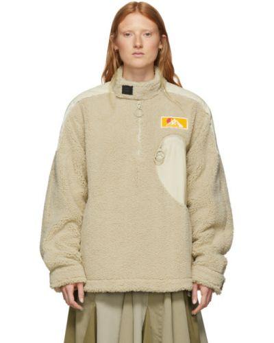 Пуловер бежевый в полоску Off-white