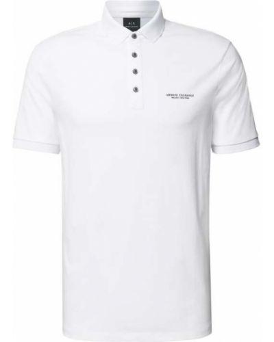 T-shirt bawełniana - biała Armani Exchange