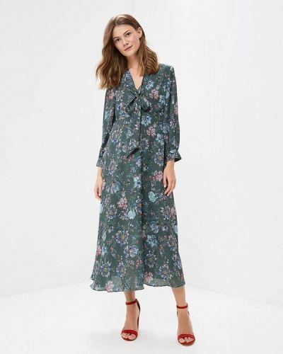 Платье с длинными рукавами льняное Zarina