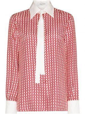 Шелковая рубашка - красная Valentino