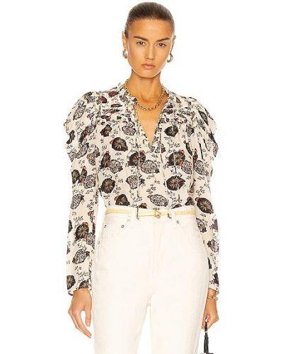 Блузка с декольте - белая Ulla Johnson